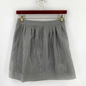 Trulli Skirt Size 8 Silver Silk Blend A Line
